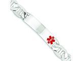 Sterling Silver Polished Medical Anchor Link Id Bracelet style: XSM179