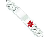 Sterling Silver Polished Medical Curb Link Id Bracelet style: XSM180