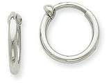 14k White Gold Non-pierced Hoop Earrings style: XWE127