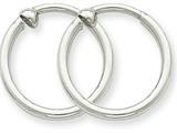 14k White Gold Non-pierced Hoop Earrings style: XWE128
