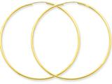 14k 1.5mm Polished Round Endless Hoop Earrings style: XY1166