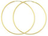 14 kt Yellow Gold 1.5mm Polished Round Endless Hoop Earrings style: XY1167