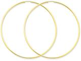 14 kt Yellow Gold 1.5mm Polished Round Endless Hoop Earrings style: XY1168