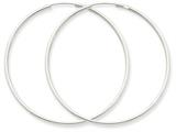 14k White Gold 1.5mm Polished Endless Hoop Earrings style: XY1189