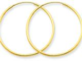 Finejewelers 14k Yellow Gold 30 x 1.25mm Endless Hoop Earring style: XY1206