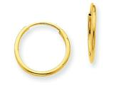 Finejewelers 14k Yellow Gold 1.25mm Endless Hoop Earring style: XY1210