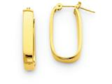 14 kt Yellow Gold Polished 3.5mm Oval Hoop Earrings style: YE434