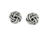 Sterling Silver Love Knot Earrings 10mm style: 420031