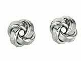 Sterling Silver Love Knot Earrings 10mm style: 420032
