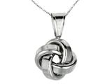 Polished Love Knot Pendant Necklace on 18 Inch Chain style: 460121