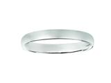 Finejewelers 14kt White Gold 3mm Hollow Lightweight Wedding Band / Ring style: 460217