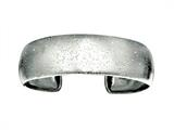 Rhodium Plated 2 Inch Textured Stardust Diamond Cut Cuff Bangle style: 460279