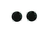 14 Kt White Gold 5.0mm Round Faceted Black Cubic Zirconia Stud Earring style: 471874