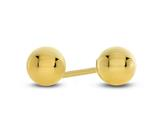 Finejewelers 10 Kt Yellow Gold 4mm High Polished Ball Stud Earrings style: 472100