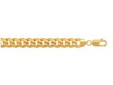 10 Kt Yellow Gold 22 Inch7.8mm Lite Miami Cuban Semi-solid Link Necklace With Lobster Clasp style: 472289
