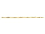 14 Kt Yellow Gold 20 Inch 4.5mm Light Semi-solid Miami Cuban Bracelet With Lobster Clasp style: 473608