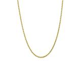14 Kt Yellow Gold 16 Inch 3.0mm Bright Cut Solid Rope Chain With Lobster Clasp style: 475155