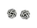 Sterling Silver Love Knot Earrings 10mm