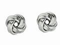 Finejewelers Sterling Silver Love Knot Earrings 10mm