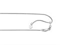14kt White Gold 22 Inch bright-cut Adjustable Wheat Chain Necklace Lobster Clasp and Small Heart Charm
