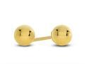 10 Kt Yellow Gold 10k 4mm High Ed Ball Stud Earring