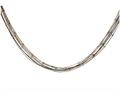 925 Sterling Silver 18 Inch Rhodium Ruthenium Rose Finish Oval Link Chain Necklace with Lobster Clasp