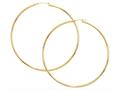 Finejewelers 14kt Yellow Gold 2 mm by 70 mm Hoop Earrings with Hinged Clasp