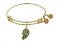 "Angelica Collection Antique Left-half Heart Best Friends Forever ""bff"" Expandable Bangle"