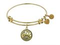 "Angelica Collection Antique Yellow Stipple Finish Brass ""chef"" Expandable Bangle"
