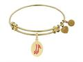 Angelica Collection Red Slipper Expandable Bangle