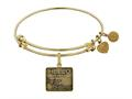 Angelica Collection Brass with Yellow Finish Friends Regina Phalange Expandable Bangle