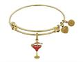 Brass With Yellow Finish Enamel Umbrella Drink Charm For Angelica Collection Bangle