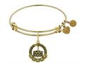Brass With Yellow Finish Happy Birthday Charm For Angelica Collection Bangle