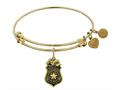 Brass With Yellow Finish Police Officer Charm For Angelica Collection Bangle