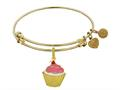 Brass With Yellow Finish Enamel Cupcake Charm For Angelica Collection Bangle
