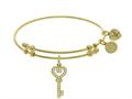 Brass With Yellow Key Charm With CZ On Yellow Angelica Collection Bangle
