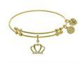 Brass With Yellow CZ Crown Charm On YellowAngelica Bangle