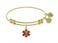 Brass With Red Enamel Caduceus Yellow Angelica Collection Angelica Collection Bangle
