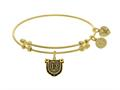 Brass With Yellow Finish Lucky 13 Charm For Angelica Collection Bangle