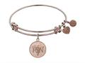 Angelica Collection Non-antique Pink Stipple Finish Brass registered Nurse Expandable Bangle