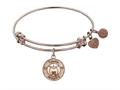 Angelica Collection Non-antique Pink Stipple Finish Brass apple; Teach, Inspire Expandable Bangle