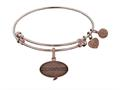 Angelica Collection Brass with Pink Finish Friends How You Doing Expandable Bangle