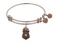 Brass Pink Finish Police Charm On Pink Angelica Collection Bangle
