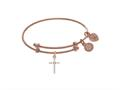 Brass With Pink Finish Charm On Pink Angelica Collection Tween Bangle
