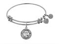 Angelica Collection Non-antique White Stipple Finish Brass apple; Teach, Inspire Expandable Bangle