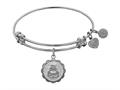 """Angelica Collection Non-antique White Stipple Finish Brass """"wedding Day"""" Expandable Bangle"""