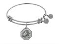 Angelica Collection Non-antique White Stipple Finish Brass hairstylist Expandable Bangle