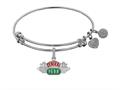 Angelica Collection Brass with White Finish Friends Central Perk Expandable Bangle