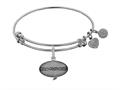 Angelica Collection Brass with White Finish Friends How You Doing Expandable Bangle