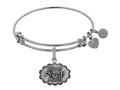 Angelica Collection Brass with White Finish Friends Pivot! Expandable Bangle